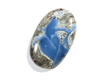 47Cts Australian Blue Opal Cabochon Loose Gemstones Oval Shape Gorgeous Top Quality Natural Blue Opal For Jewelry Making 40X25X6mm