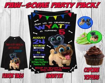 Puppy Dog Pals Birthday Party Invitation, Printable, Download, Puppy Dog Pals Party, Puppy Dog Pals Invitation