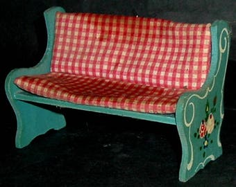 VINTAGE BENCH with Covering - 1950'S (West Germany)