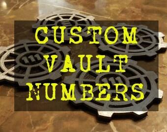 Vault Door Themed Coaster Set - CUSTOM VAULT NUMBERS - Set of 6