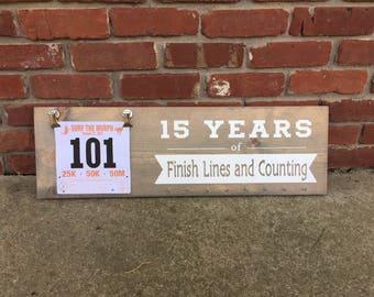 Race Medal Holder, Running Medal Holder, Race Bib Hanger, Running Medal Rack, Race Bib and Medal Holder, Marathon Gift, Running Anniversary