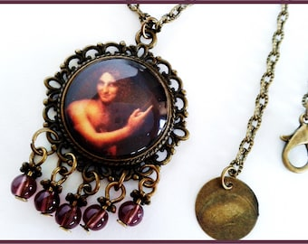 Saint John the Baptist - Vinci cabochon 20 mm long