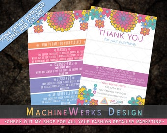 Independent Fashion Retailer Thank You Cards • Happiness Cards • Home Office Approved Fonts and Colors • Marketing Materials • MachineWerks