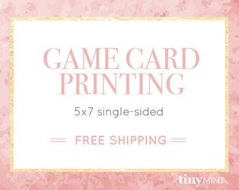 Game Card Printing Service | 5x7 Single-Sided Invitation Printing | High Quality Professional Printing