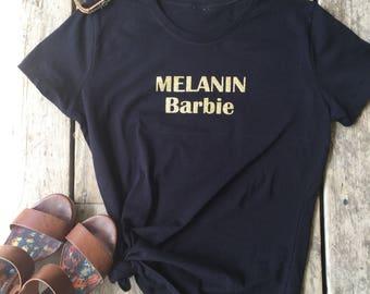 Melanin, Gold Melanin, Melanin  T-Shirt, Gold Melanin Shirt, Feminist  T-Shirt