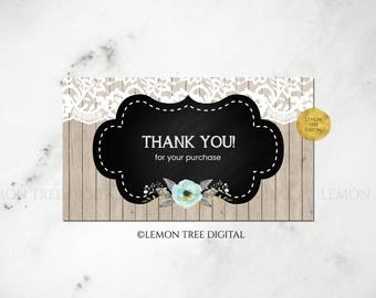 floral thank you you cards