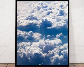 Cloud Print, Clous Photography, Bird view Clouds, Clouds Decor, Clouds Wall Art, Clouds Photography, Birdview Cloud, Blue Photography, Cloud