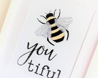 Bumble Bee Print Beautiful Quote Insect Manchester Art