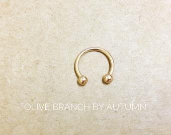 Rose Gold Horseshoe Ring 18g | 3/8| Nose | Cartilage | Piercing | Septum