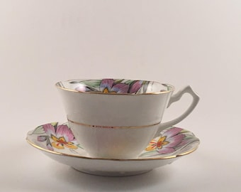 Vintage Gladstone China Tea Cup and Saucer