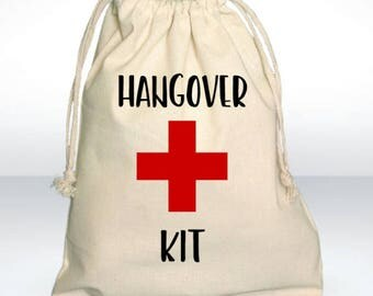 Bachelorette Party Favor, Hangover Kit, Survival Kit, Recovery Kit, Emergency Kit, Custom Bachelorette Party Bags - Great