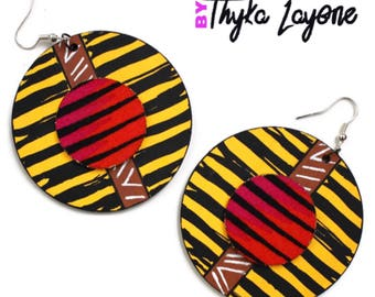And colored earrings, African earrings african style - ethnic earrings ethnic African-inspired