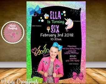 Jojo Siwa Invitation, Jojo Siwa Party, Jojo Siwa Birthday Invitation, Jojo Siwa Supplies