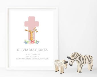 Guess How Much I Love You Themed Christening Print - Personalised