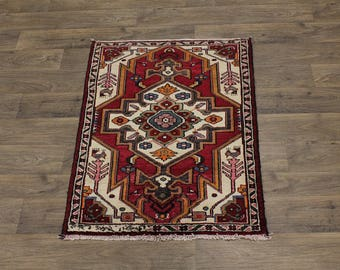 Beautiful Design Small Handmade Hamedan Persian Area Rug Oriental Carpet 3X4