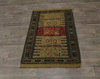 Beautiful Design Flat Weave Tribal Sumak Persian Rug Oriental Area Carpet 4X6