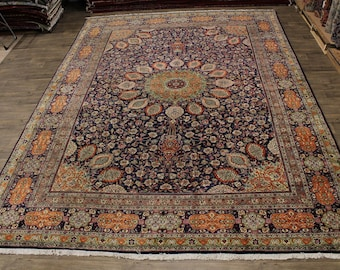Exquisite Oversized Tabriz Sheikh Safi Design Persian Rug Oriental Carpet 12X16
