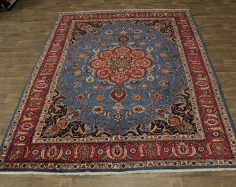 Breathtaking S Antique Unique Blue Kashmar Persian Rug Oriental Area Carpet 8X11