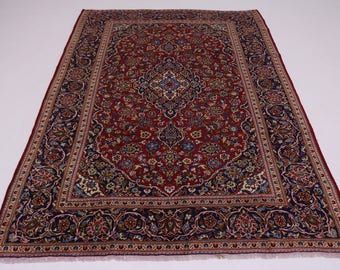 S Antique Handmade Traditional Red Kashan Persian Rug Oriental Area Carpet 8X12