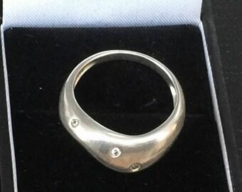 Men S Black Diamond And Brown Diamond Silver Ring Saturn