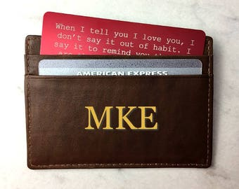 Stocking stuffer for him, Personalized Wallet Card, Custom Wallet Insert, Valentine's Day Gift for Men, Anniversary Gift for Him,
