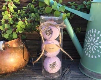 Bath Bomb Trio - Package of 3 all Natural Homemade Bath Bombs - Varieties to choose from - Bath Soaks - Bath Salts - Gift Ideas
