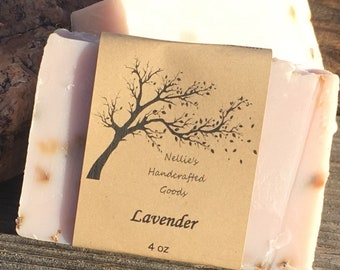 Lavender Natural Soap Bar ~ Relaxing Bath Products ~ Sensitive Skin ~ Natural Skin Care ~ Cold Process Soap ~ Farmhouse Rustic Decor