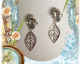 Oak Leaf Post Earrings
