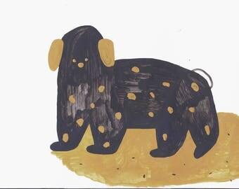 dog acrylic