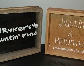 Honeymoon Fund Wedding Decoration Dollar Dance Money Box