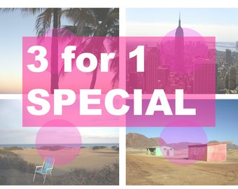 Special 3for1 in size A3, Art print Namibia street // printable art // picture // landscape, photography, nature, New York, Palmtree, palms