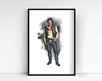 Star Wars 'Han Solo' A4 Portrait