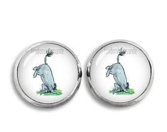 Eeyore Stud Earrings Winnie Pooh 12 mm Stud Earrings Classic Winnie the Pooh Jewelry