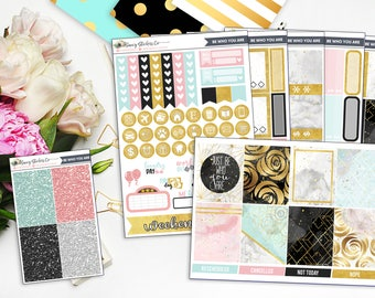 Be Who You Are Full Weekly Planner Sticker Kit | for use with Erin Condren Lifeplanner™, Filofax, Personal, A5, Happy Planner