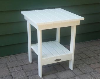 White Poly Lumber Side Table