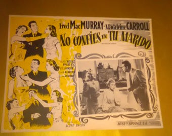 Vintage Spanish Movie Poster An Innocent Affair 1948  *****1940's*****