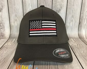 Thin Red Line American Flag Hat