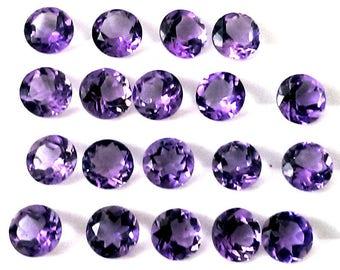 10 piece 6mm amethyst faceted round gemstone, 100% natural 6mm amethyst round faceted loose gemstone, Amethyst Faceted Round Loose Gemstone