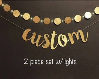 Custom  Banners, Bachelorette Party Banners, Birthday Party Banners, Wedding Banners, Gold Glitter Banners, Party Bannners, Party Decoration