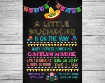 Mexican Fiesta Baby Shower Invitation / Fiesta Party Invitation / Fiesta Birthday Invitation