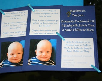 Make christening square birth announcement