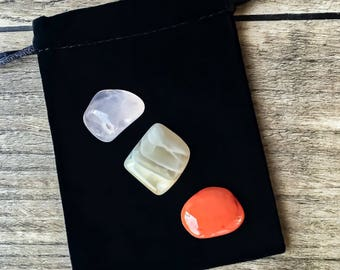 Fertility & Pregnancy Crystal Set, Fertility Crystals, Fertility Stones, Pregnancy Stones, Tumbled Stones
