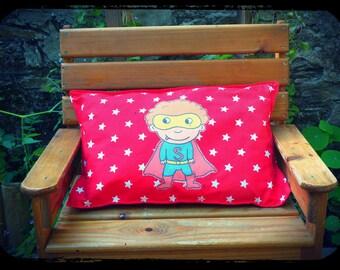 "cushion ""Stan the super hero!"""