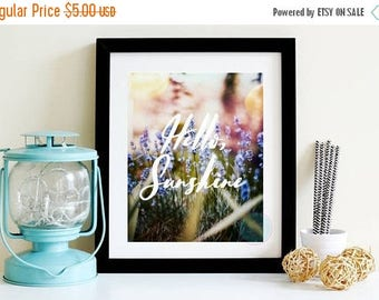 25% OFF SALE- PRINTABLE Art Hello Spring Spring Flower Art Hello Spring Sign Lilac Photograph Lilac Flowers Spring Sign Spring Art Print