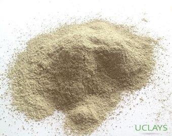 Green clay powder natural for mask, facial detox and cosmetic