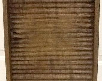 Antique primitive wood washboard