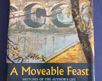 """A MOVEABLE FEAST by Ernest Hemingway  First Edition / 1st correct with Scribner  """"A"""" Paris 1920's"""