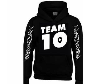 TEAM 10 Hoodie + Your NAME on the back
