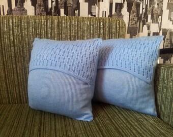 Pillow Knitted pillow Throw pillow  Couch pillow Decorative pillow