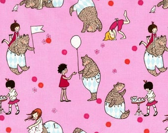Let's Pretend, Mr Bear, by, Sarah Jane, for, Micheal Miller Fabrics, OOP, VHTF, Fat Quarter